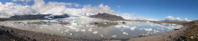 Nubes sobre la laguna Jökulsárlón