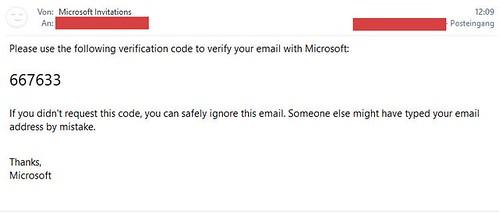 Microsoft Teams Gastzugang (7): Email mit Code | by Frank Hamm