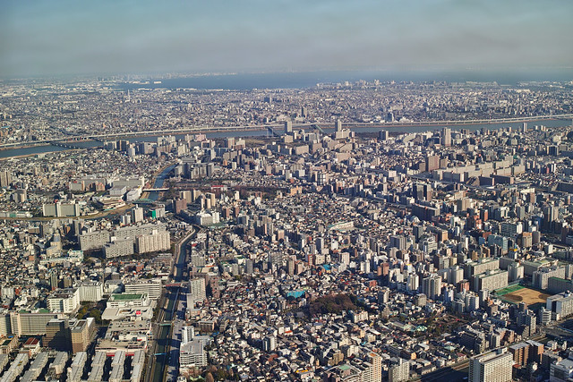Sky view from Tokyo Sky Tree (Narihira, Tokyo, Japan)
