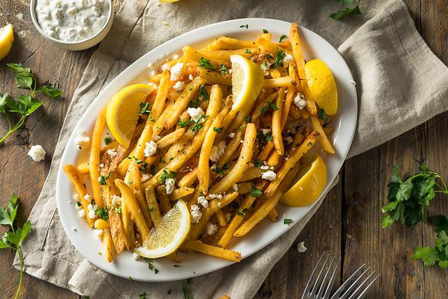 Homemade Greek Feta and Parsley Fries
