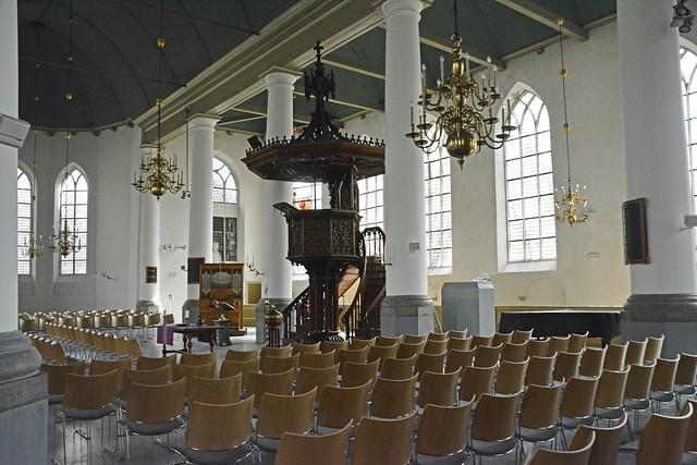 Interieur van de Grote Kerk in Vlaardingen