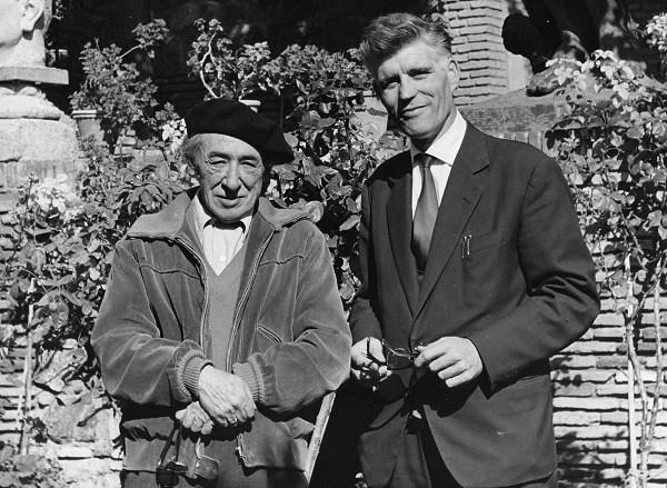 Leandro de la Vega con Victorio Macho. Toledo, 1962. Universidad Complutense