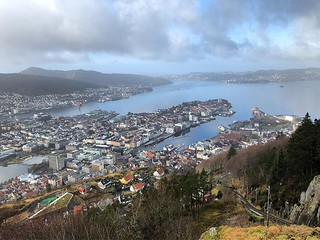 Bergen from above (although here was busy as the popular funicular ran to here)   by adam rumbold