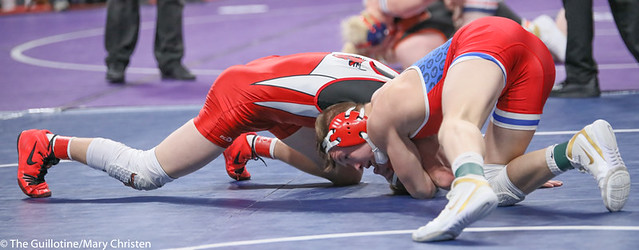 152AA 3rd Place Match - Gavin Nelson (Simley) 44-7 won by decision over Miles Fitzgerald (Fairmont-Martin County West) 28-15 (Dec 3-2) - 190302BMC3813