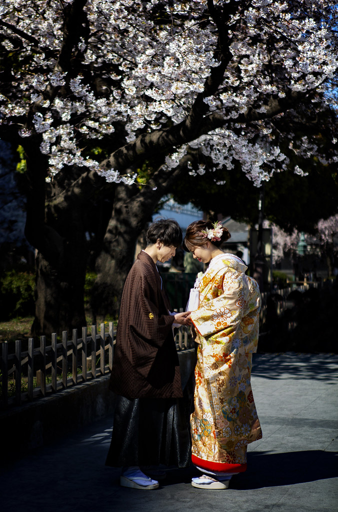A Newly Wedded Japanese Couple