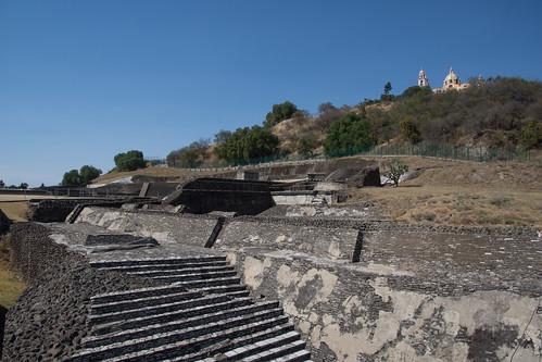Archeological zone in Cholula