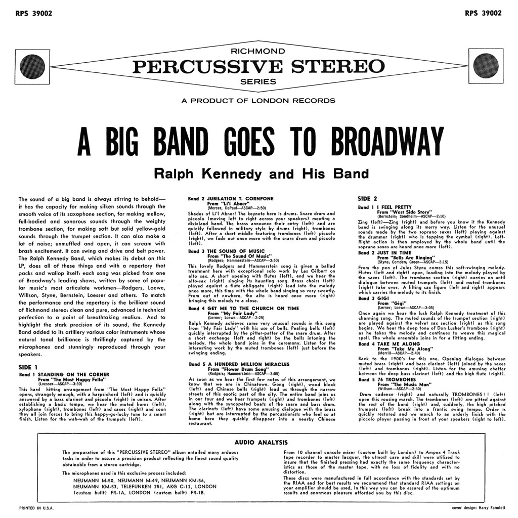 Ralph Kennedy ‎– A Big Band Goes To Broadway