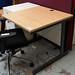 Maple straight desk 800 x 800 E80