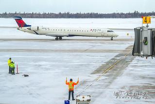 N809SK Delta Connection (SkyWest Airlines) | Bombardier CRJ-900LR | Winnipeg International Airport