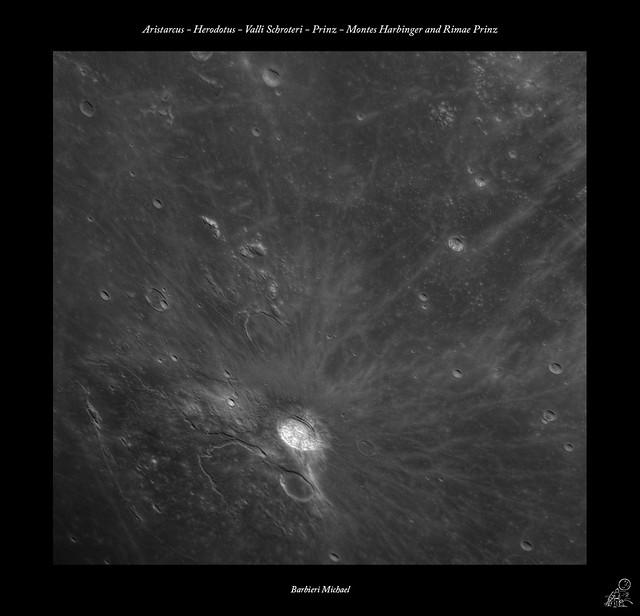 Aristarcus - Herodotus -  Valli Schroteri - Prinz - Montes Harbinger e Rimae Prinz 24 11 2015