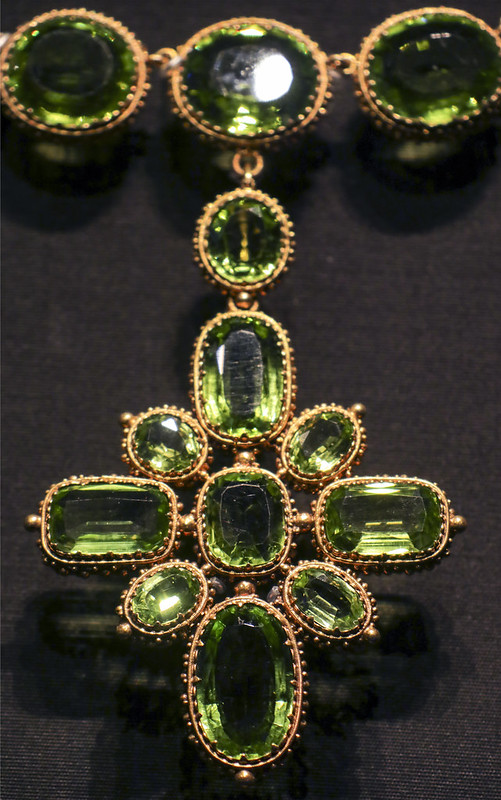 Part of the Set of jewels, England, London, 1816, made by Rundell, bridge and Rundell, peridots open-set in gold