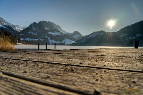 spitzflue fribourg sunset see wasser switzerland lake reflexion hdr verschiedenes schweiz schwarzsee spiegelung sonnenuntergang landschaft water landscape reflection plaffeien kantonfreiburg ch