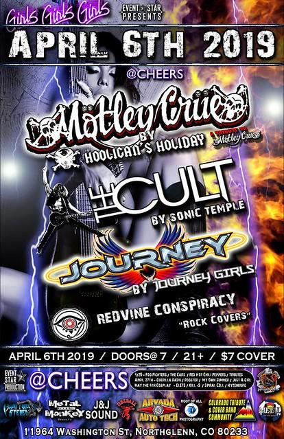 Motley Crue / The Cult & Journey Tributes