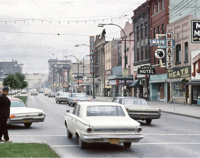 Main St. looking south from Henry Ave, circa 1969.