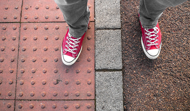 Red Converse. . . Hi-tops. . .