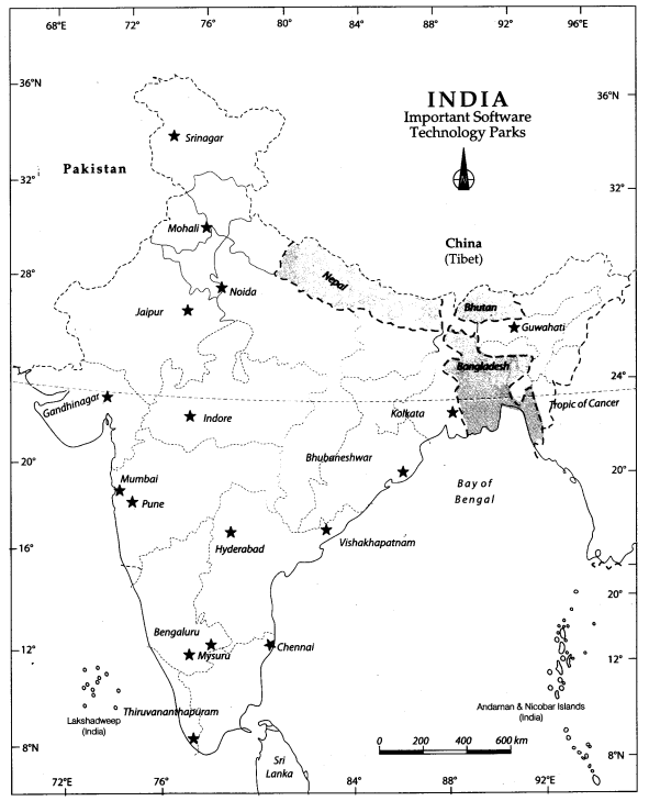 Class 10 Geography Map Work Chapter 6 Manufacturing Industries 3