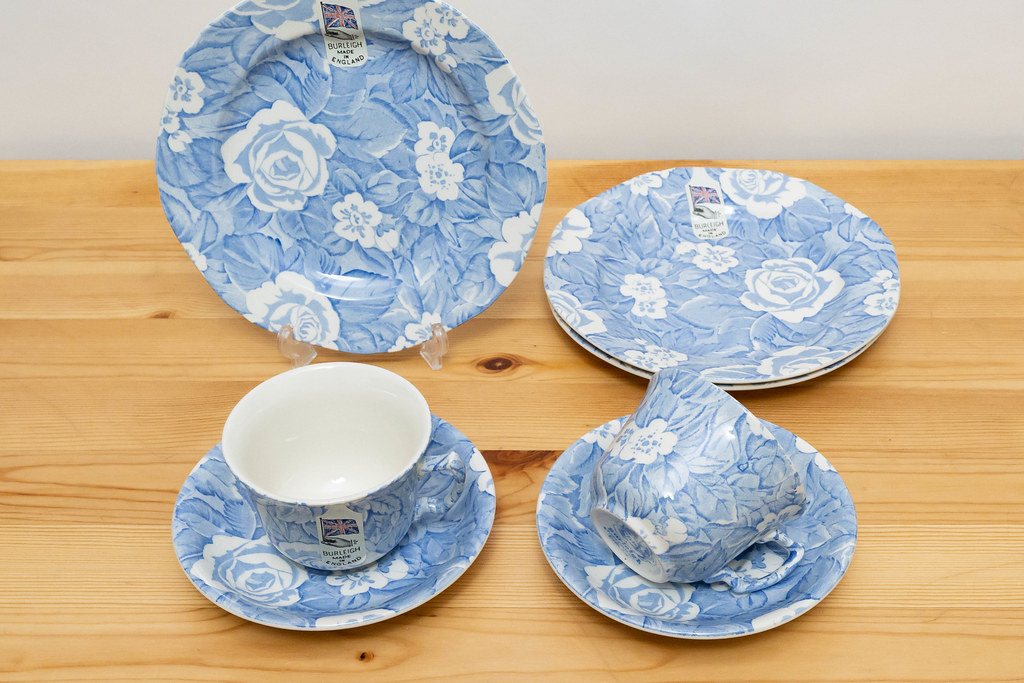 Blue Victorian Chintz / BURLEIGH