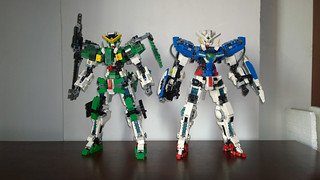 LEGO Gundam Exia & Gundam Dynames (Mobile Suit Gundam 00) | by demon1408