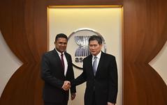 Courtesy call by Ambassador of Sri Lanka, H.E. Dharshana M. Perera