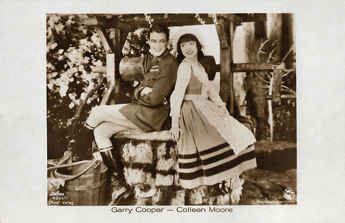 Gary Cooper and Colleen Moore in Lilac Time (1928)