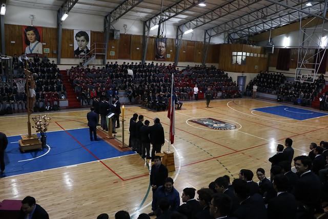 Visita del Padre inspector Carlos Lira en el Instituto Don Bosco.