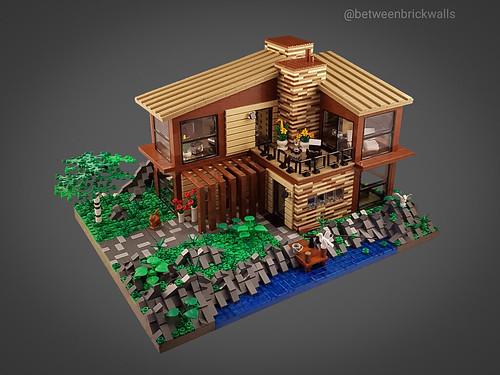 Scandinavian Sea House MOC. Front.