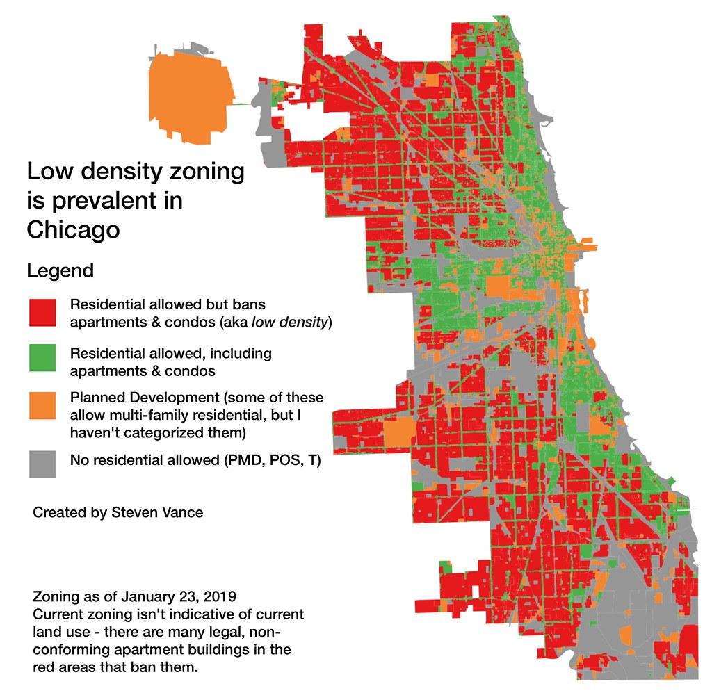 low density zoning map of Chicago   Steven Vance   Flickr on