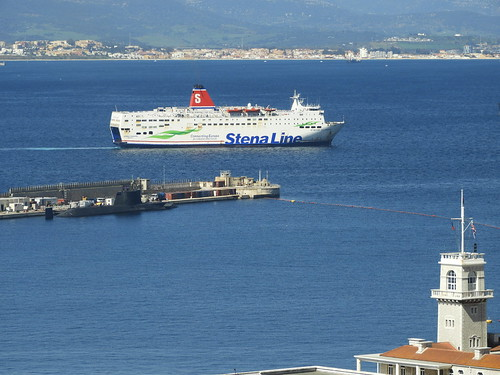 Stena Europe & HMS Ambush (Gbraltar) | by TonyDavisGib