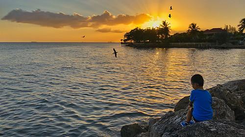 atlantic fishing iphonex sea seashore seaside sunset trinidadandtobago tt boy pos port spain