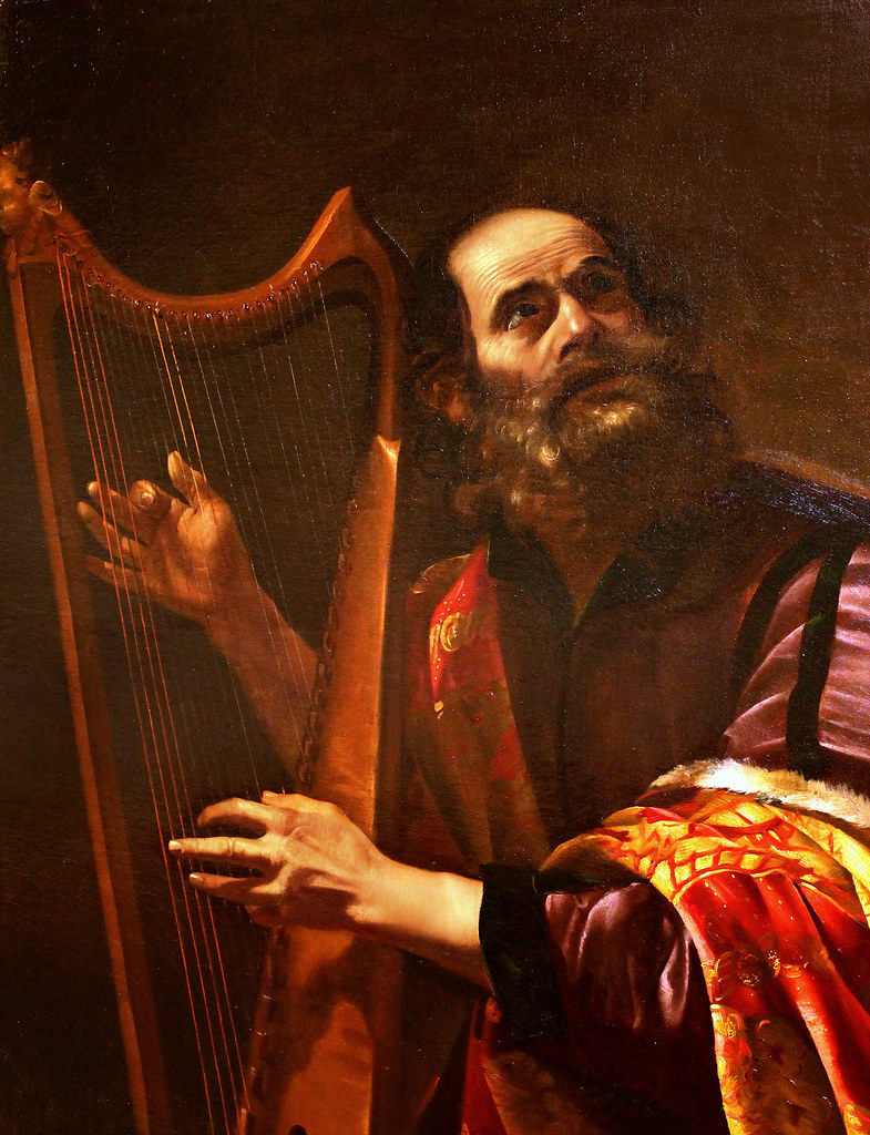Simon Vouet. King David Playing the Harp. 1st half 17th c.… | Flickr