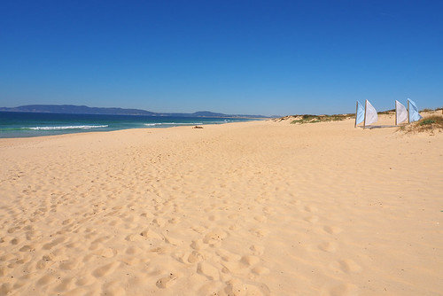 Comporta Beach and flags, Portugal   by BuzzTrips