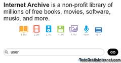 archive.org millones de libros gratis, películas, juegos, música y más.