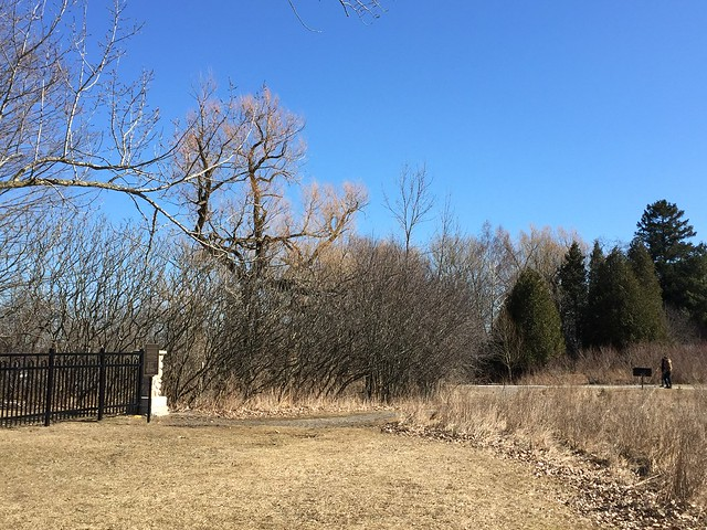 Simcoe point pioneer cemetery near  Rotary park and Duffins Creek in Ajax  Ontario Canada March 26 2019