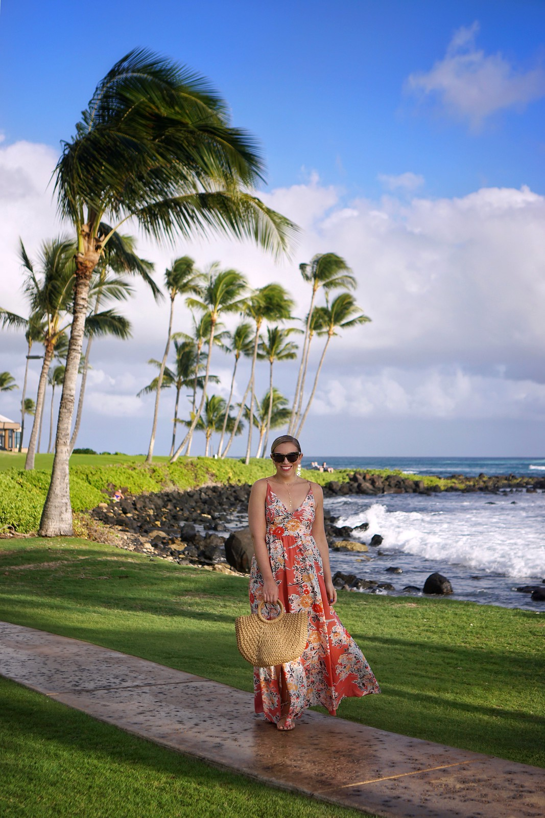 How to Buy EXTREMELY Discounted Free People Clothes   Free People Through the Vine Maxi Dress   Hawaii Outfit   Vacation Outfit Inspiration   What to Wear in Hawaii