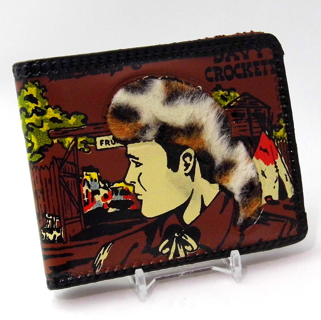 Vintage Walt Disney Official Davy Crockett Wallet With Fess Parker, Made In USA, Circa 1956