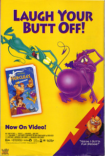 "Walt Disney Home Video:: Disney's ""HERCULES"" ,VHS ; 'LAUGH - ' (( 1997 )) 