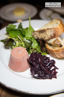 Hudson Valley foie gras mousse, onion compote with port wine sauce   by thewanderingeater