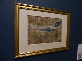 Leonardo da Vinci - A life in drawing - Birmingham Museum & Art Gallery - A map of the Valdichiana c. 1503-6