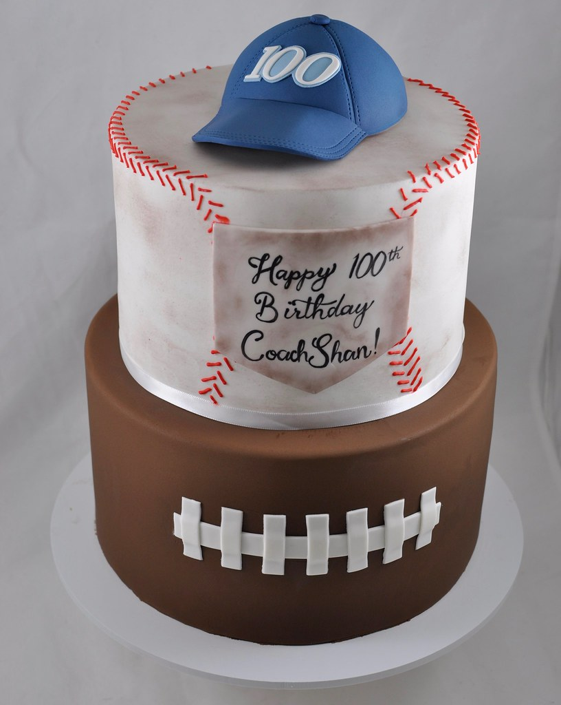 Pleasant Sports Themed Birthday Cake Jenny Wenny Flickr Funny Birthday Cards Online Alyptdamsfinfo