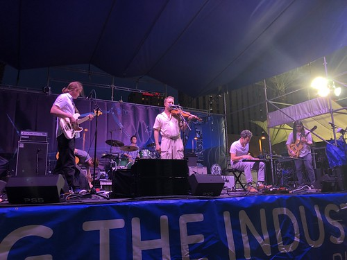 Lost Bayou Ramblers on Day 2 of French Quarter Fest - 4.12.19. Photo by Carrie Booher.