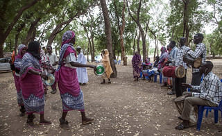 A Darfuri cultural group performs a traditional dance in South Darfur | by UNAMID Photo