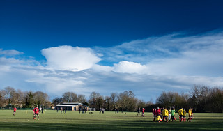Half time between the hail storms at Hinksey   by aiddy