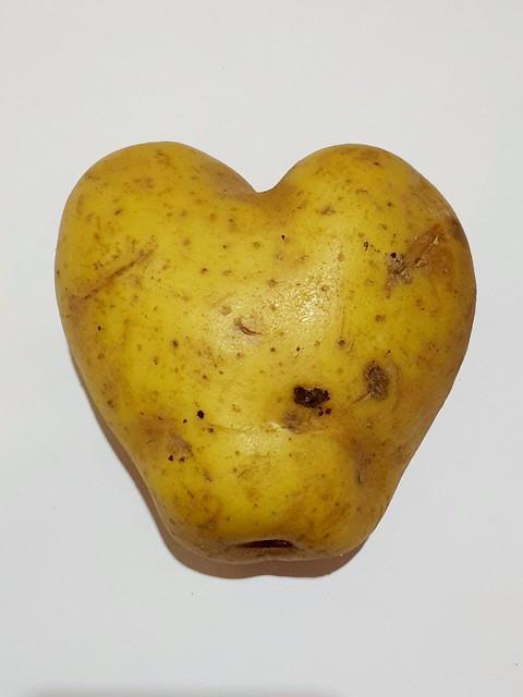 My heart shaped potato !!  I guess it