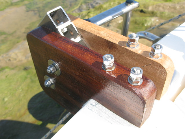 "193. ""Edna,"" my Hebridean wind-vane build, is finished - the raw wood"