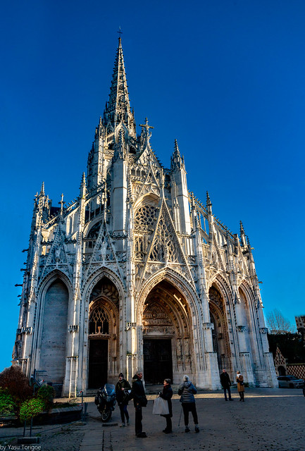 Exterior of the The Church of Saint-Maclou, Rouen, France-53