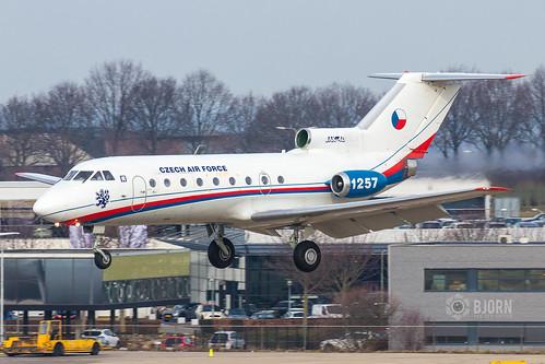 1257 Czech Air Force Yakovlev Yak-40K, Maastricht Aachen Airport - EHBK/MST   by neplev1