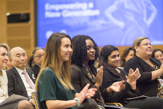 Fri, 03/08/2019 - 16:12 - 030819 - WASHINGTON DC., Managing Director and Chairwoman of the IMF Christine Lagarde and Interim WBG President Kristalina Georgieva engage in a conversation on their pioneering leadership and challenges they and other women have faced, the economic issues they're dealing with and how they prioritize gender both through operations and in walking the talk within the IMF and WBG.  Photo:  World Bank / Simone D. McCourtie