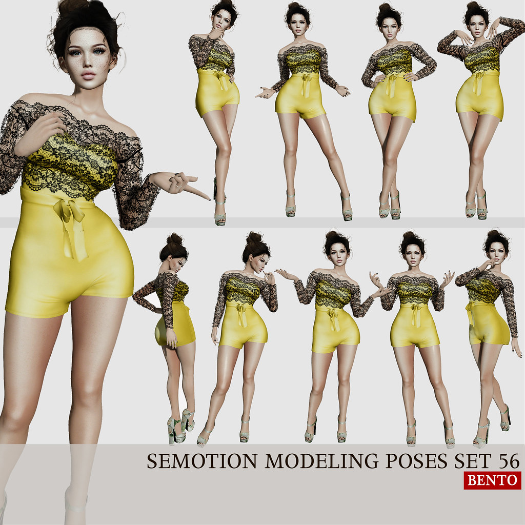 SEmotion Female Bento Modeling poses set 56