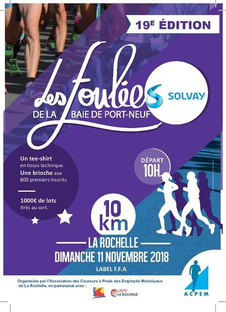 1er compétition, La Rochelle, novembre 2018, 10 km, 49'33.  place  296 / 534 classés