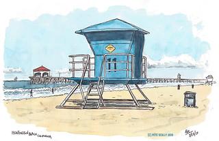 Huntington Beach Lifeguard Hut | by petescully